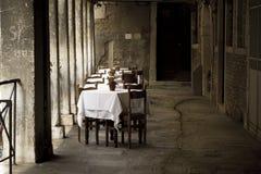 Venice, romantic restaurant Royalty Free Stock Photos