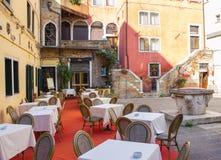Venice, romantic restaurant Stock Photography