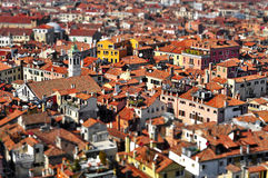 Venice roofs, in Italy, with tilt shift lens effect Stock Image
