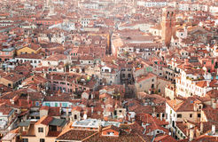 Venice roofs. View from the top of the Campanile in Piazza San Marco in Venice, Italy Stock Photo
