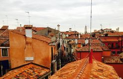 Venice roofs royalty free stock photos