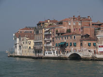 Venice. A row of houses in Venice Royalty Free Stock Photography