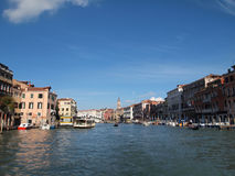 Venice's Grand Canal Venice in Italy Europe royalty free stock photo
