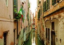 Venice´s interior canal. Traditional picture of Venice´s interiors, beautiful architecture Royalty Free Stock Image