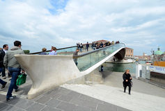 Venice's new Constitution Bridge Royalty Free Stock Photo