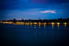 Venice's night. Walking along the river, see the night in venice Stock Photo