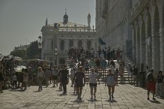 Venice`s promenade Royalty Free Stock Images