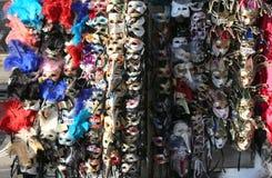 Venice Saint Mark's Square many maskes on sale Royalty Free Stock Photo