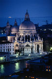 Venice Salute church. Della Salute church in Venice at dusk stock photos