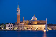 Venice, San Giorgio isle by night Stock Photo