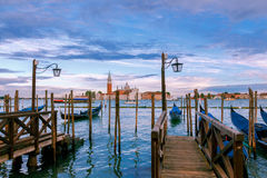 Venice. San Giorgio Maggiore on the sunset. Royalty Free Stock Photo
