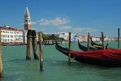 Venice, San Marco and gondola Stock Photo