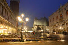 Venice San Marco, by night Stock Photos