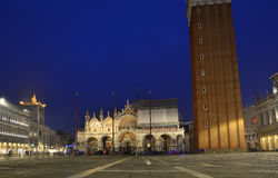 Venice San Marco, by night Royalty Free Stock Photography