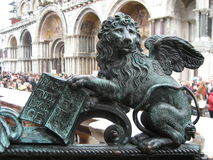 Free Venice, San Marco Square. The Winged Lion Stock Photography - 61084482