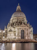 Venice - Santa Maria della Salute church and gondolas in evening Stock Images
