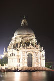 Venice, Santa Maria della Salute. Night view of Santa Maria della Salute in Venice Stock Images