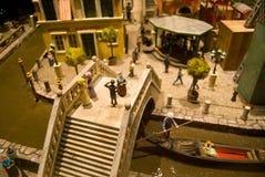 Venice scene. Miniature urban scene of a part of venice royalty free stock image
