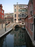 Venice. Scene reflection Stock Photography