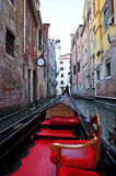 Venice Seen from Gondola Stock Photography