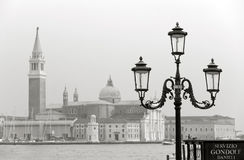 Venice in sepia royalty free stock photography