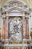 Venice - Side altar with angels  in church Santa Maria del Rosario (Chiesa dei Gesuati) Stock Photo