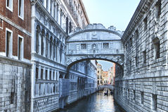 Venice sigh bridge Royalty Free Stock Photography