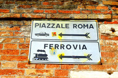 Venice signposts Stock Photo