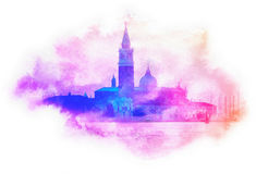 Venice Silhouette, Italy Royalty Free Stock Images
