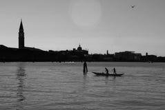 Venice silhouette Royalty Free Stock Photos