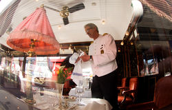 The Venice Simplon-Orient-Express - The Bar Car Stock Image