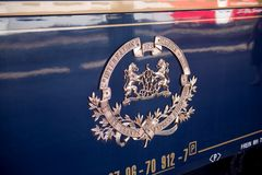 The Venice Simplon-Orient-Express  emblem Royalty Free Stock Images
