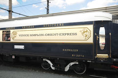 The Venice Simplon-Orient-Express in Innsbruck. Innsbruck Austria MAY 04:The legendary 'Orient Express' arrives at station in Venice at 10:57 am on May 04, 2011 stock image