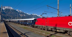 The Venice Simplon-Orient-Express in Innsbruck Royalty Free Stock Images