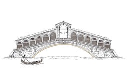 Venice sketch collection, Bridge of all lovers Stock Image