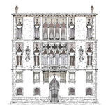 Venice sketch collection, Hotel, detailed illustration Stock Photo
