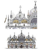 Venice sketch collection, San Marco  detailed illustration Stock Photos