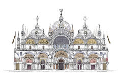 Venice sketch collection, San Marco  detailed illustration Stock Image