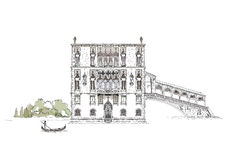 Venice sketch collection, Venice canal illustration Stock Images