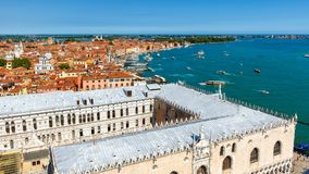 Venice skyline with the Doge`s Palace Royalty Free Stock Images
