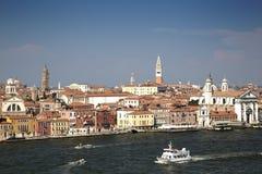 Venice Skyline and the Giudecca Canal Royalty Free Stock Photo