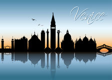 Venice skyline - Italy -  illustration Stock Image