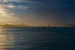 Venice skyline at sunset Royalty Free Stock Images