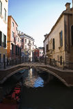 Venice small canal Stock Photo