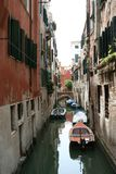 Venice, a small canal royalty free stock photography
