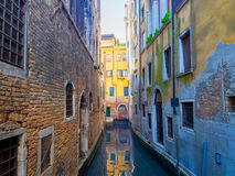 Venice Small Canal Stock Photos