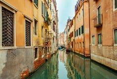 Venezia small canal lagoon City in winter Travel europe Italy. Venice  small canal lagoon City in winter Travel  Italy Europe World Heritage Royalty Free Stock Photography