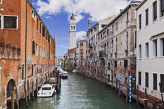 Venice Small Channel Day Stock Photography