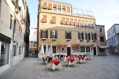 Venice and small square Royalty Free Stock Image