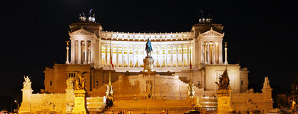 Venice Square in Rome . Night View. Italy Stock Photo